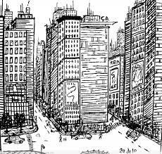 Resultado De Imagen Para Dibujos De Ciudades Para Colorear Skyscraper Building Art