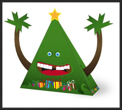 This Christmas Papercraft Is A EasyToBuild Fir Christmas Tree