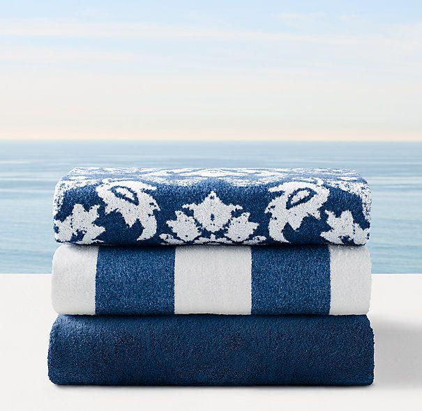 Amalfi Beach Towel Collection - Azure