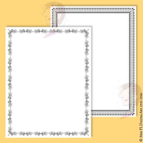 Borders Frames Clip Art 8x11 - Decorative Design create your own ...