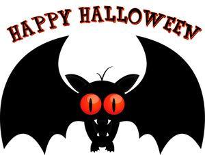 happy halloween text art