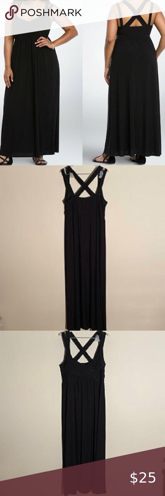 Torrid Black Plus Crisscross Maxi Dress 2x Dresses 2x Maxi Dress Dresses [ 1740 x 580 Pixel ]