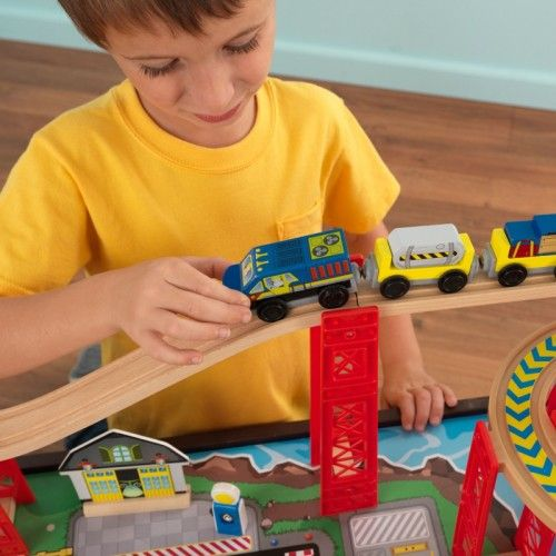 Beau Airport Express Train Set And Table   Espresso