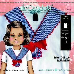 "Camiseta ""Cuello marinero"" www.decandela.es"
