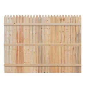 Spruce Pine Fir Stockade Fence Panel Panels