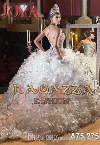 Ragazza fashion quince dresses white