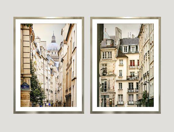 Paris Print Set Of 2 Piece Wall Art Architectural Prints Etsy In 2021 Architectural Prints Diptych Art Architectural Wall Art