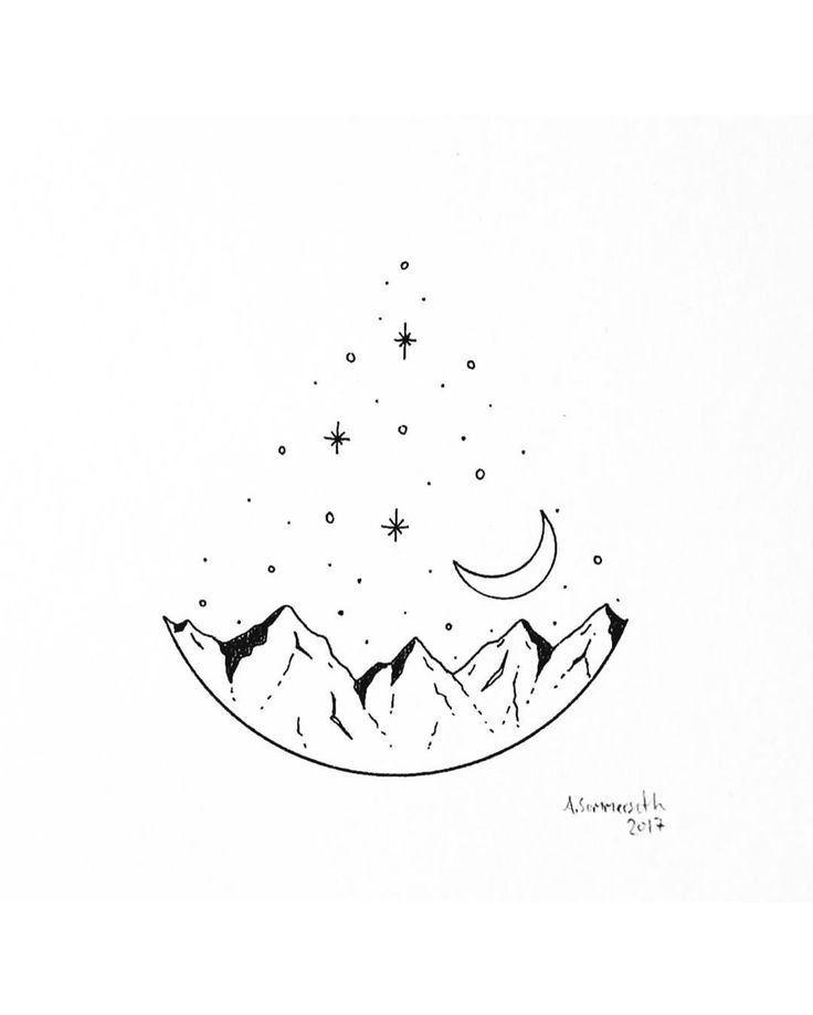 Pin By Cami Esmerode On Cizim Egitimleri In 2020 Mini Drawings Space Drawings Art Drawings Simple