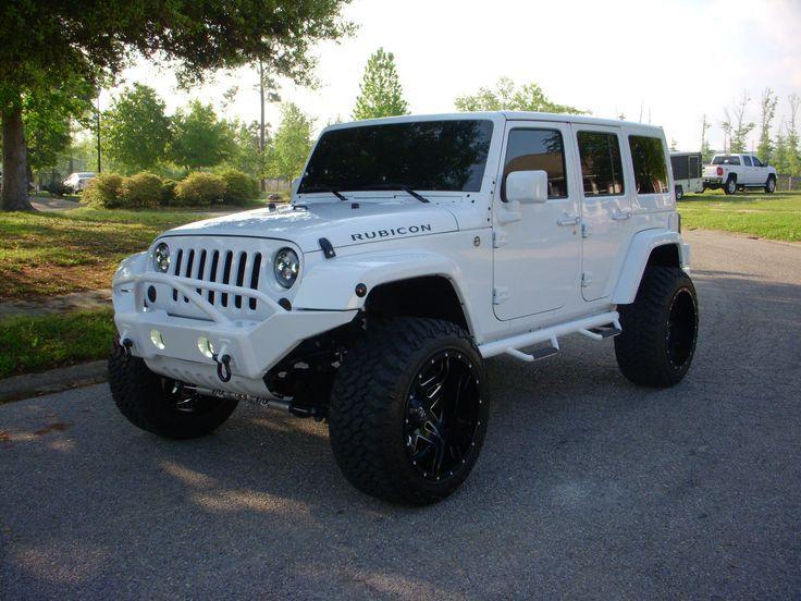 Jeep Wrangler RUBICON UNLIMITED White jeep wrangler