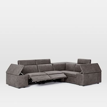 Astounding Enzo Reclining 4 Seater Sectional Set 2 With Storage Arm Machost Co Dining Chair Design Ideas Machostcouk