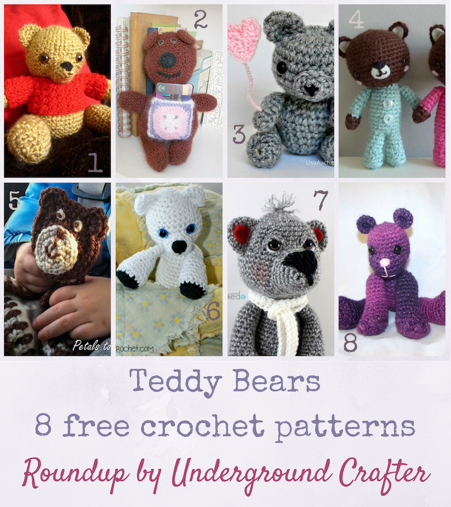 Roundup: 8 free crochet patterns for teddy bears, curated by ...