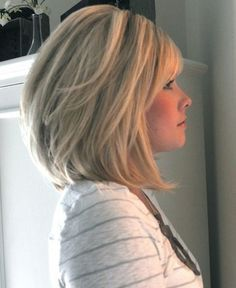 Image Result For Medium Angled Bob Hairstyles With Bangs Over 40