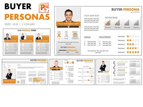 buyer persona powerpoint by yes presentations on creative market presentations pinterest. Black Bedroom Furniture Sets. Home Design Ideas
