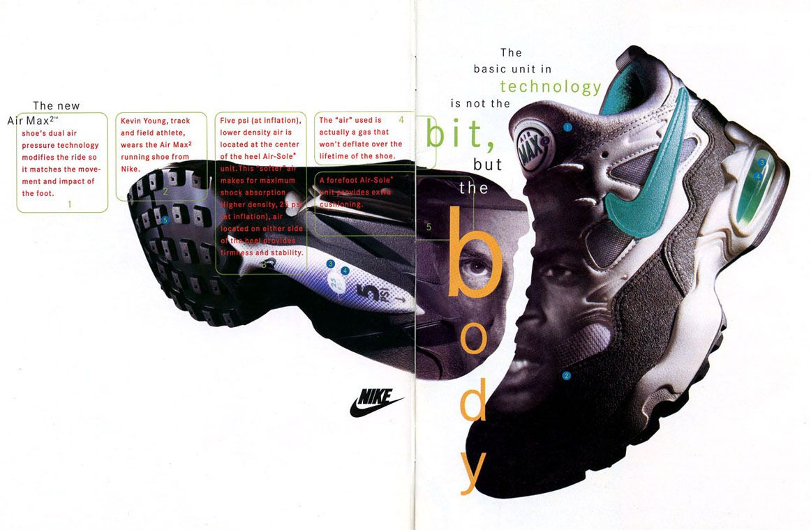 new product b4a0b 8c5e4 A vintage ad for the Nike Air Max 2. Do you want to see these return as  much as we do nike airmax