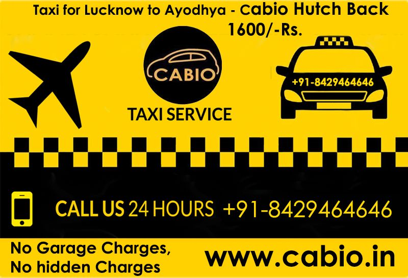 Cabio Taxi Service in Lucknow, Taxi Near me,