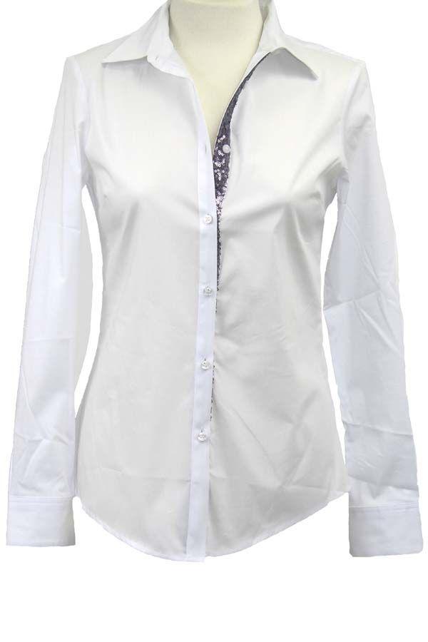 Camisa básica blanca de Nenette, disponible en www.clfashionable.com