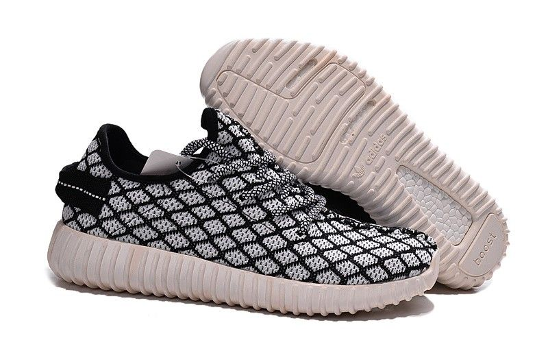 1009 : Adidas Yeezy Boost 350 Herr Svart Vit SE944755YrgCC