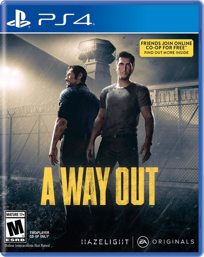 A Way Out Xbox one, Videogames, Ps4