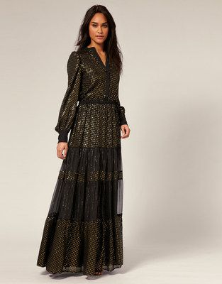 df68edafe1dd1 Mango Maxi Dress - Long sleeve ( NEW )