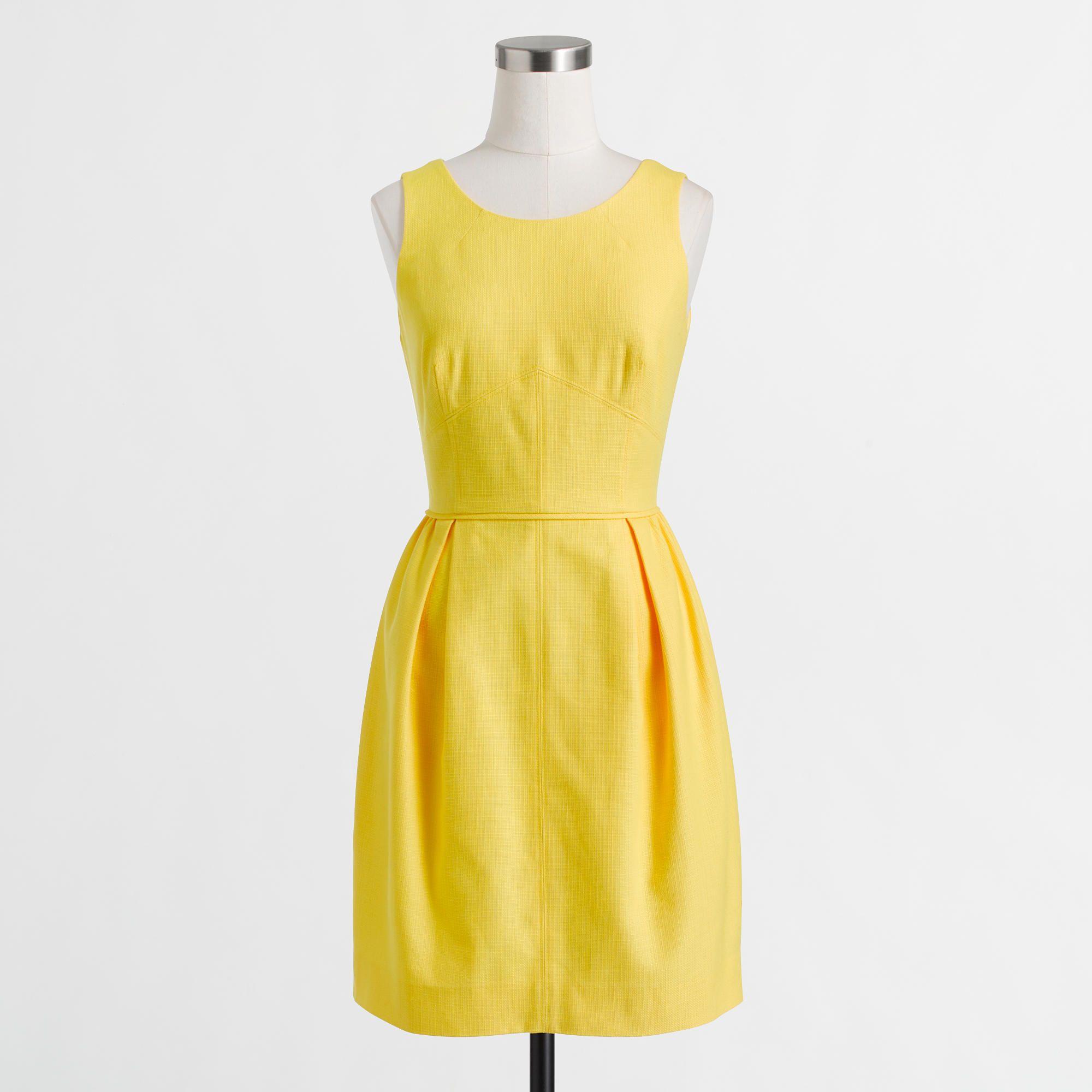 Yellow dress for women  Factory textured cotton dress  Casual  JCrew Factory  women top