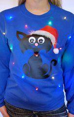 Cat Light Up Ugly Christmas Sweater Christmas Christmas