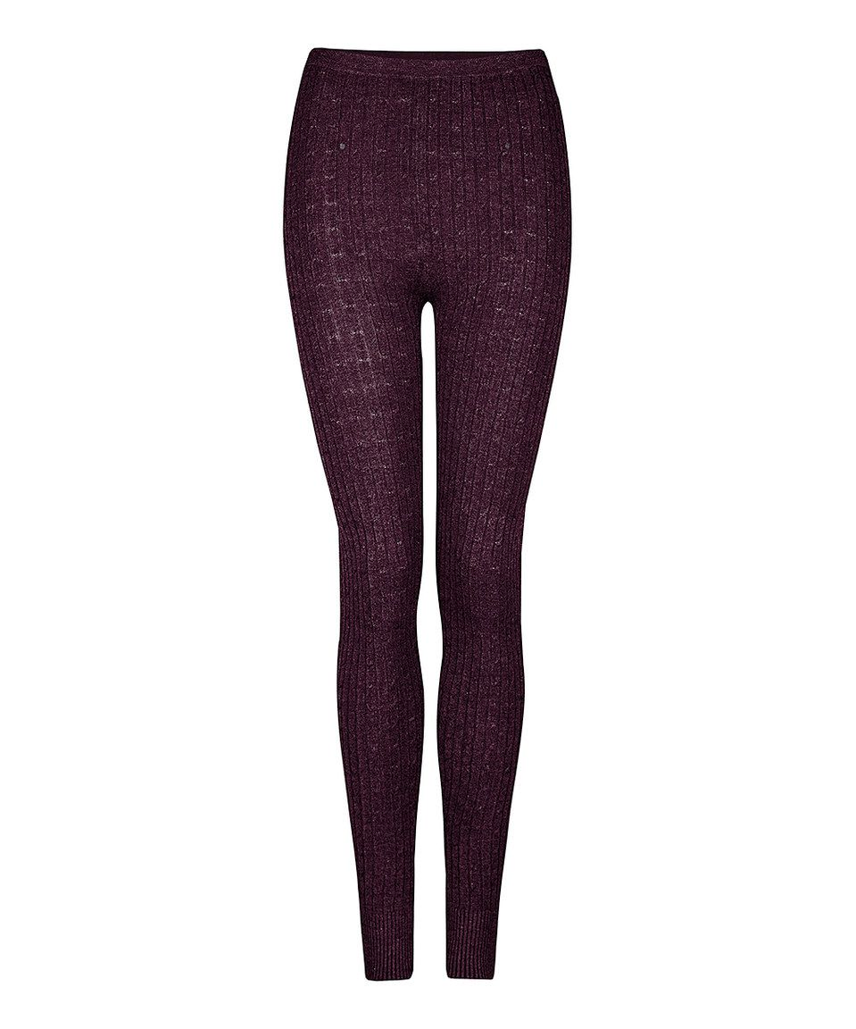 Love this Rosewood Cable-Knit Leggings by Dex on #zulily! #zulilyfinds