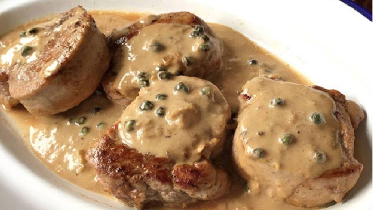 recette filet mignon de porc la sauce au poivre vert. Black Bedroom Furniture Sets. Home Design Ideas