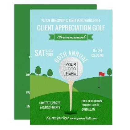 Corporate Company Golf Tournament Invitation