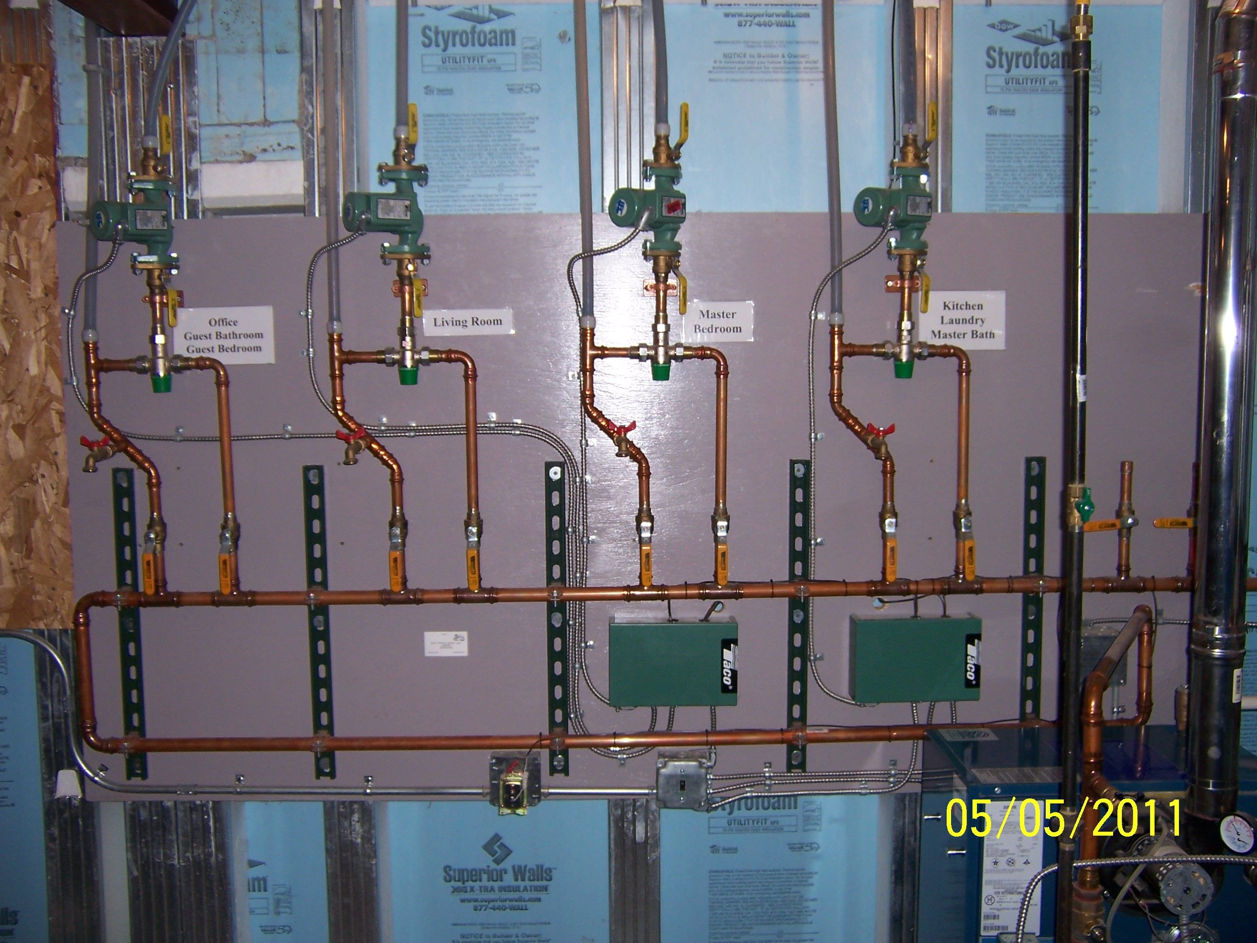 Radiant Heat System Multi-Zone. Supplies used: Taco 007 F5 ...