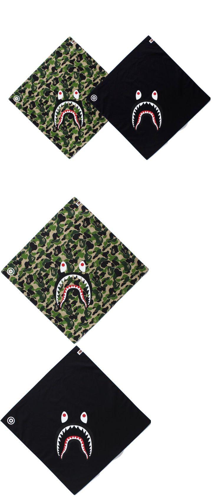 ccb8d01e1 Other Mens Accessories 1060  A Bathing Ape Bape Abc Shark Bandana Scarf  Headband Black Camo Green Mask -  BUY IT NOW ONLY   34.99 on eBay!