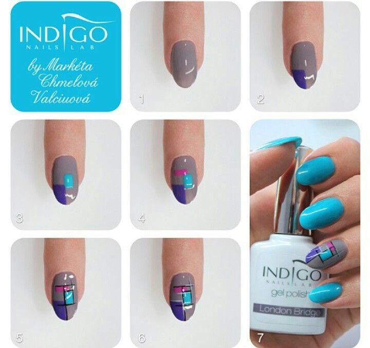 Nail art by Marketa Indigo Nails Lab | Paznokcie | Pinterest | Nail ...