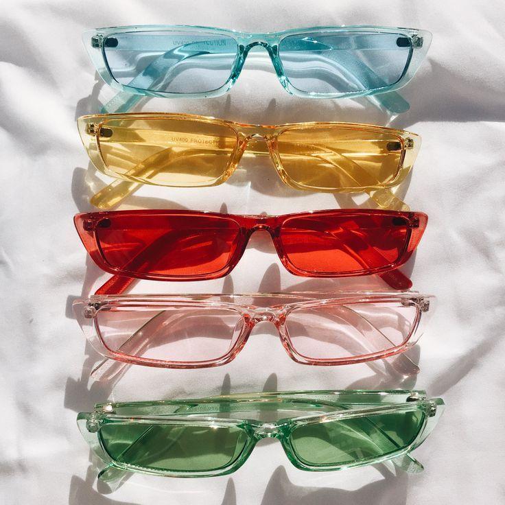 Photo of Getönte Cateye Sonnenbrille | Bunte Sonnenbrille | Cateye Brille | 90er Jahre grüne Sonnenbri…