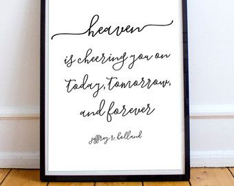 Heaven Is Cheering You On Printable Art Lds Printable Christian