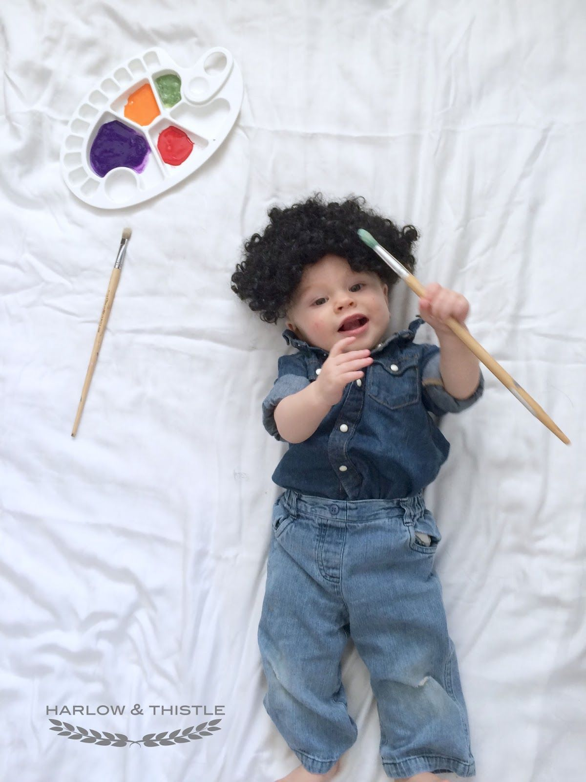 Harlow u0026 Thistle DIY Baby Halloween Costumes for 2015 ; Bob Ross  sc 1 st  Pinterest : ross costumes halloween  - Germanpascual.Com