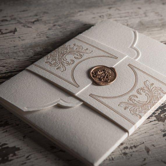 Invitación de boda De Letterpress SAMPLE SET