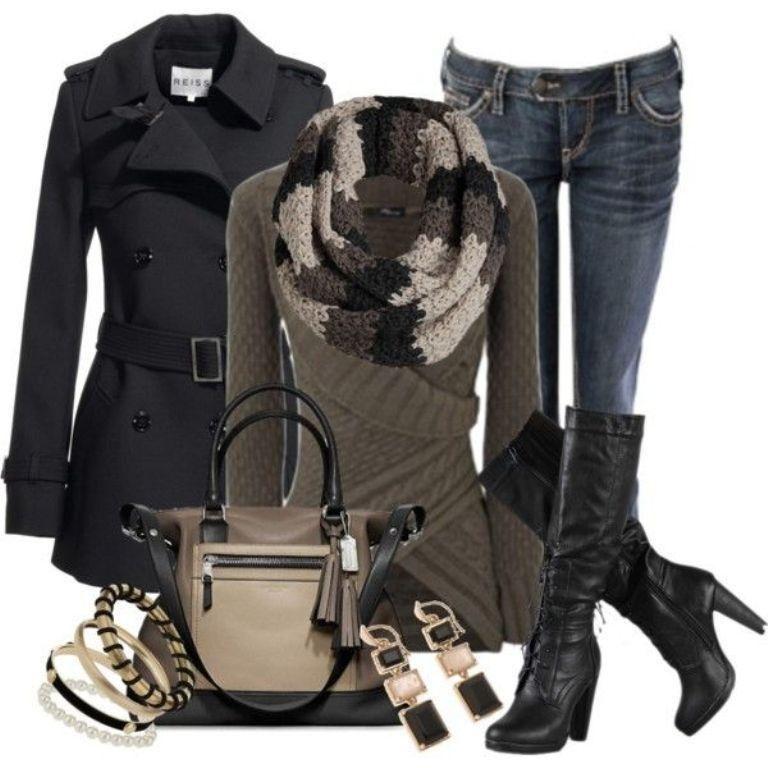 79 Elegant Fall & Winter Outfit Ideas | Fashionista trend ...