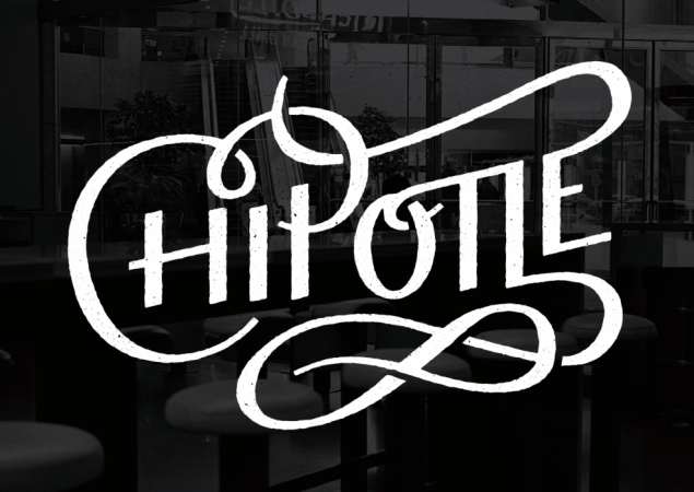 Chipotle Mexican Grill Lettering design, Typography