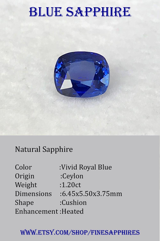 1 20ct Blue Sapphire In 2020 Blue Sapphire Sapphire Color Royal Blue Color