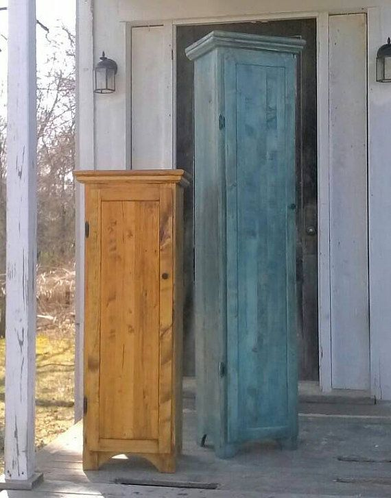 Rustic Tall Jelly Cabinet Reclaimed Wood By SauerBrosCabinetry