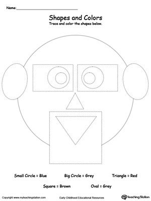 trace shapes to make a face tracing shapes worksheets and shapes. Black Bedroom Furniture Sets. Home Design Ideas