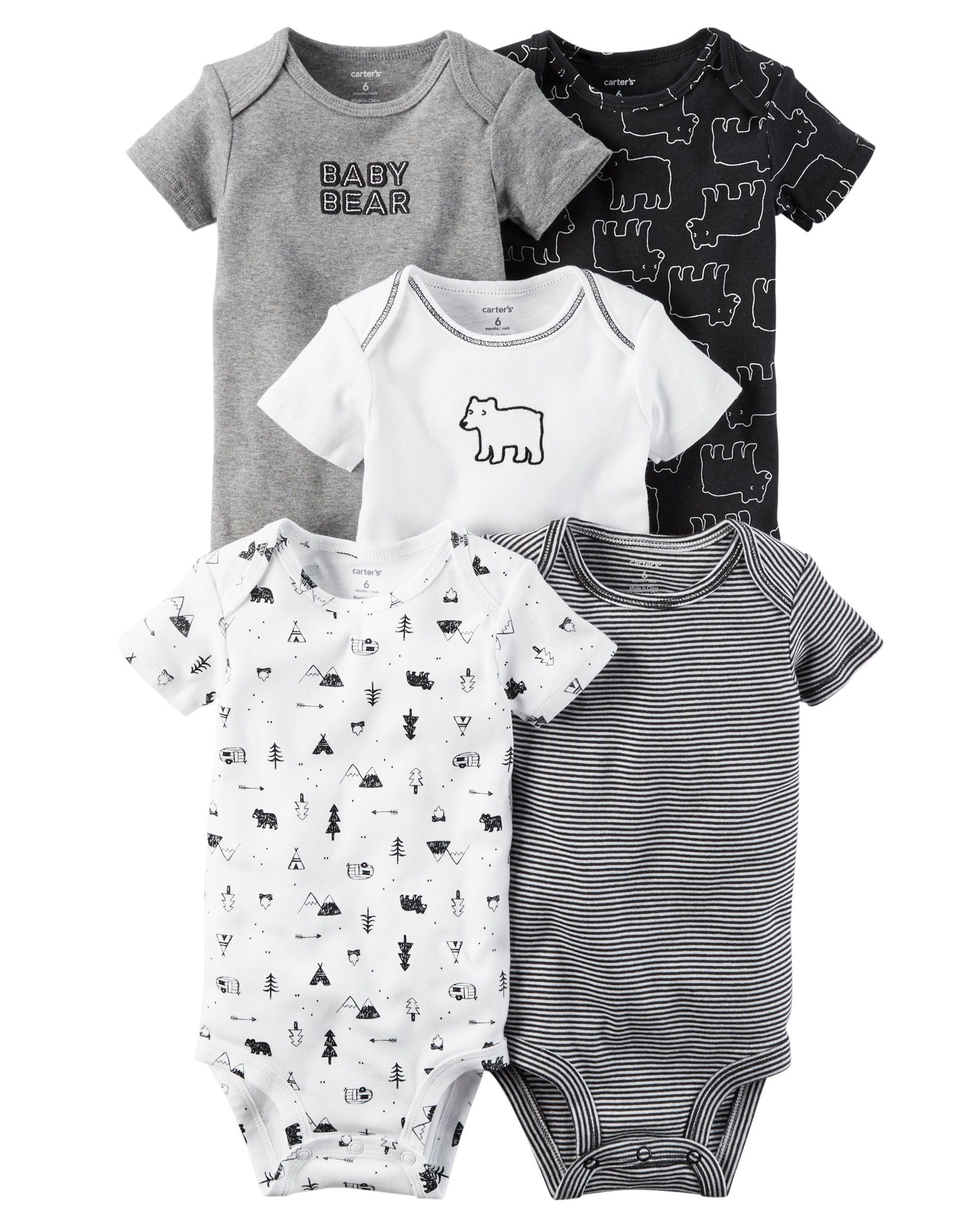 06215ac1f676 Baby Boy 5-Pack Short-Sleeve Original Bodysuits