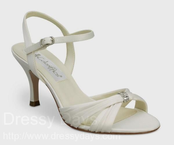 Bridal Shoes Wide Width: Tori Bridal Shoe In Ivory - Wide Width : CSW0091