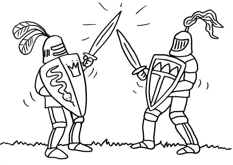 Ausmalbilder Ritter im Kampf Ausmalbilder | ausmalbilder