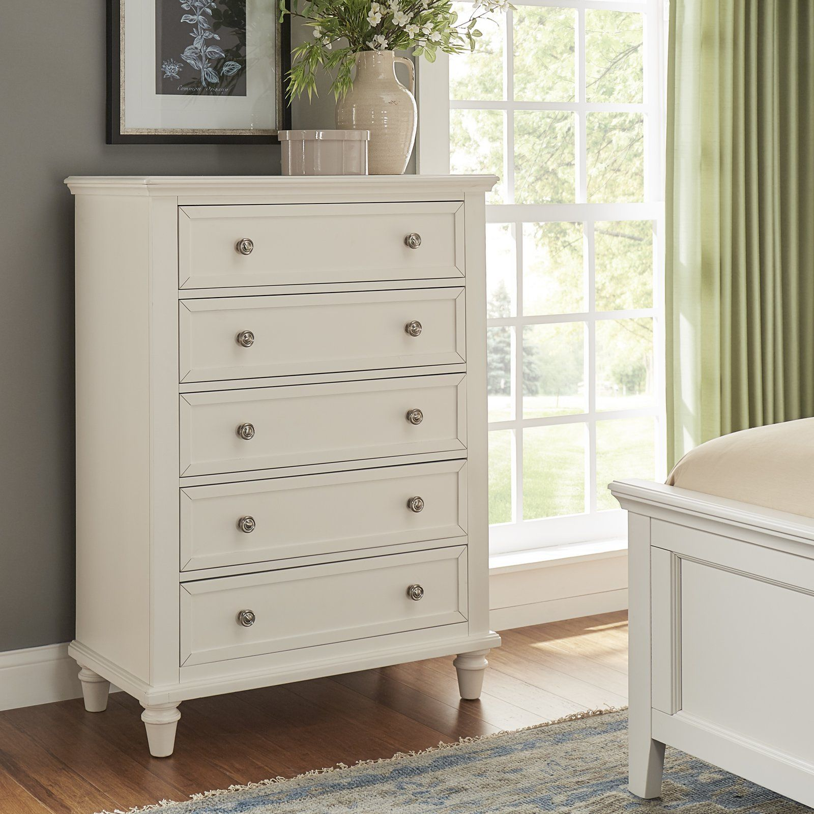 Rae 5 Drawer Chest Tall Dresser Decor