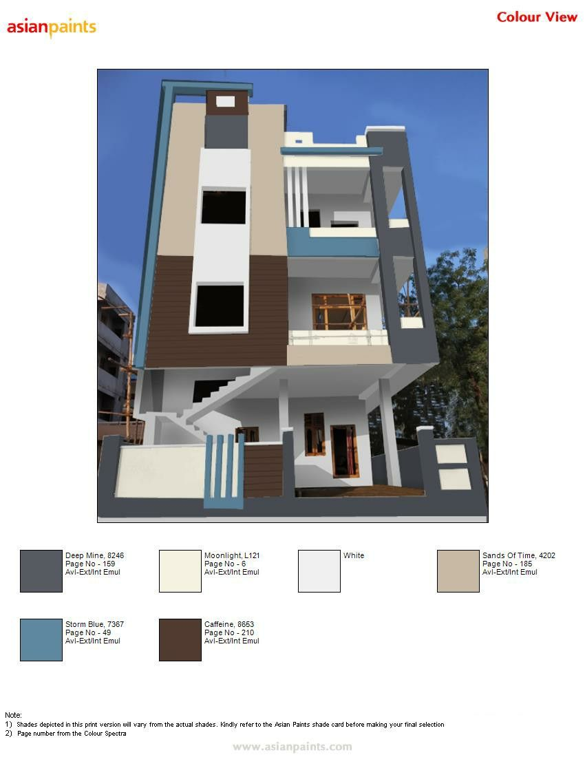 Pin By Manu 919441818532 On Top 200 Asian Paints Color Views Exterior Paint Color Combinations Exterior Paint Colors For House House Front Design