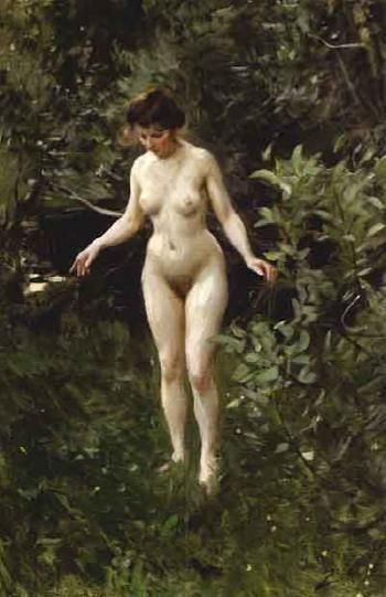 Anders Zorn Nude In The Forest Naket I Skogen