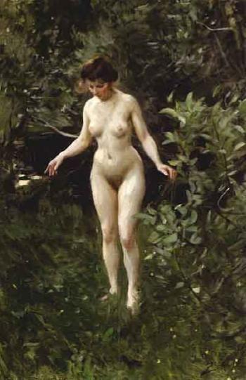 Anders Zorn Nude In The Forest Naket I Skogen