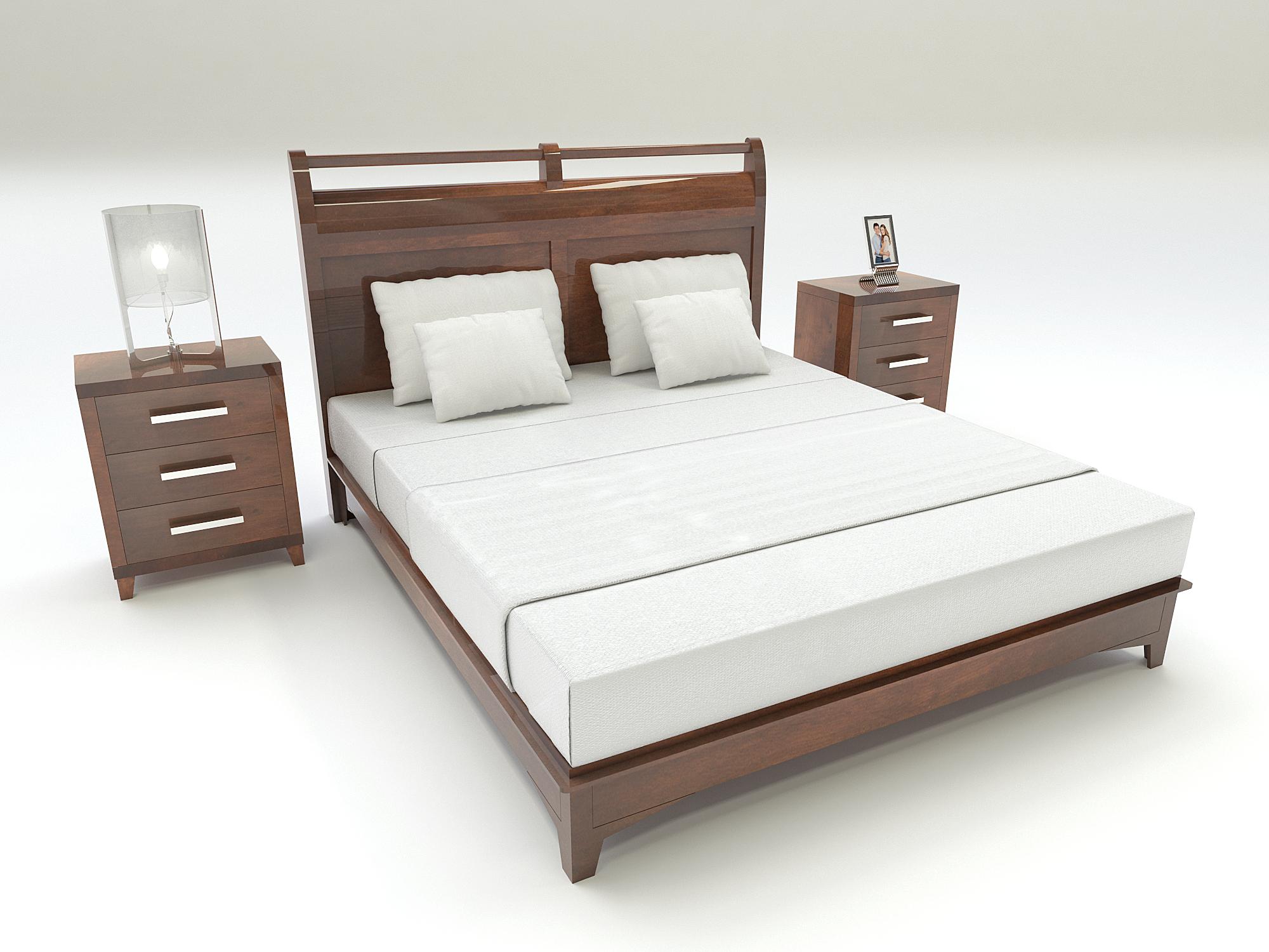 Cama Vanger Personalizable Tamano Colchon L140xl190 Bucaramanga Cama Madera Clasico Productocolombiano Furniture Home Decor Bed