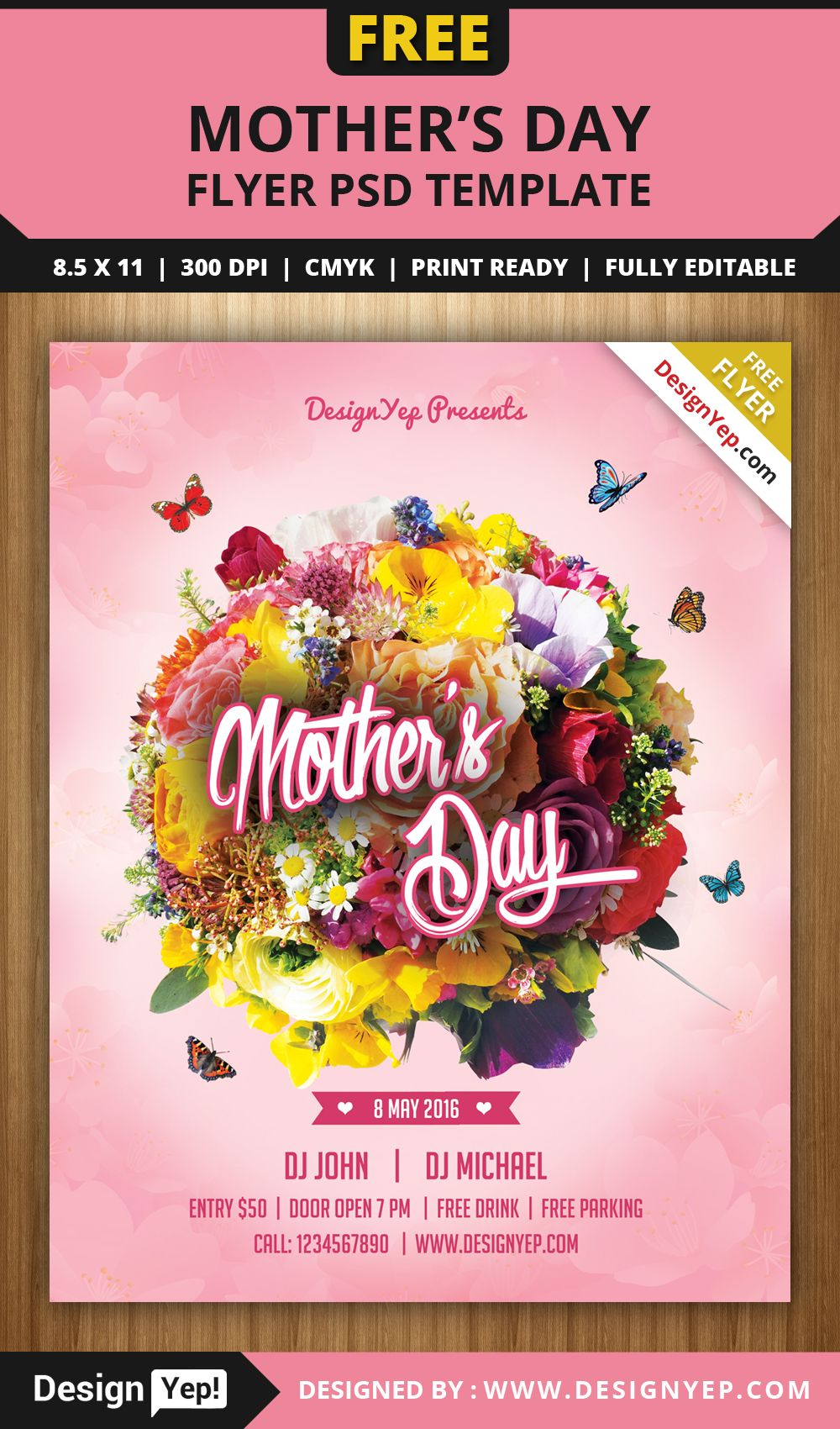 Free-Mothers-Day-Flyer-PSD-Template-5656-Designyep | Free Flyers ...