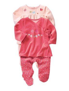 Pack of 2 Baby Girl s 2-piece Velvet Pyjamas 9d4e20f1439ad